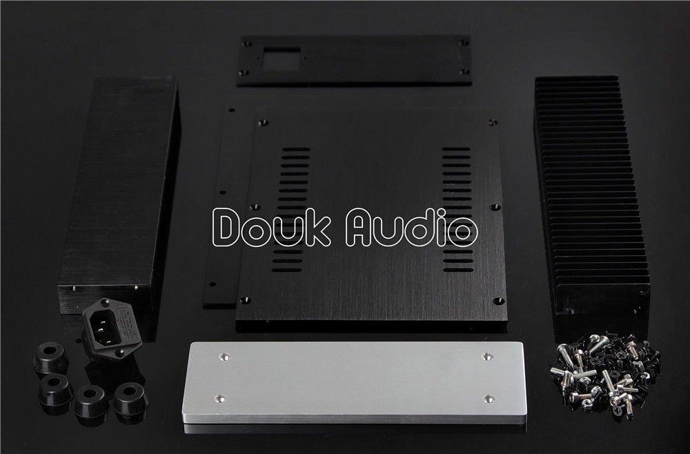 70 Nobsound/® Aluminum Amplifier Enclosure//HiFi DAC Chassis//Preamp PSU Case//Verst/ärker-Bausatz Blank Geh/äuse DIY Box House with Heatsink Size 212 257 mm