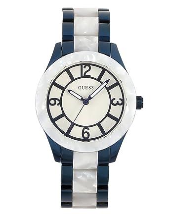 5744e4667120 Guess Reloj Analógico para Mujer de Cuarzo con Correa en Acero Inoxidable  W0074L3  Amazon.es  Relojes