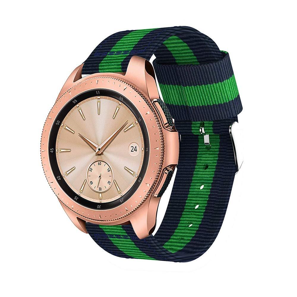 Samsung Galaxy Watch 42mm Strap de Nylon Correa para la muñeca con Dos Tonos Banda de Reloj Deportiva Pulsera de Reemplazo Reloj Venda: Amazon.es: Relojes