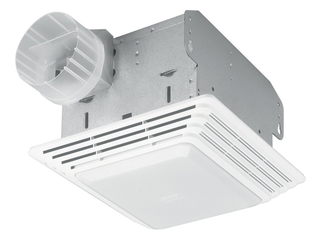 Broan NuTone HD80LNT Heavy Duty Fan/Light, 80 CFM, 2.5 Sones. 100W  Incandescent Light (bulb Not Included)   Built In Household Ventilation Fans    Amazon.com