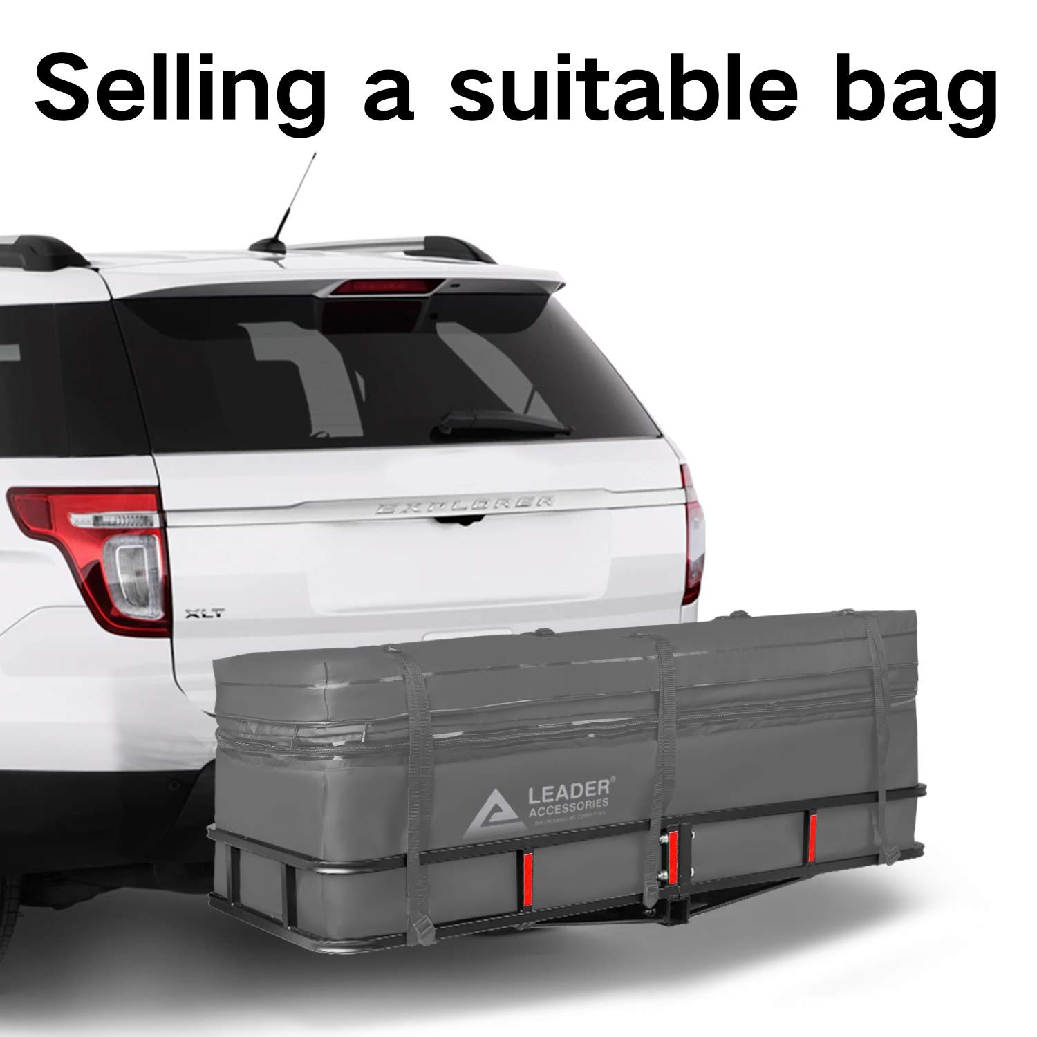 Product Size 60 L x 20.8 W x ft ft to 16.6cu Leader Accessories Hitch Cargo Carrier Bag Waterproof Extendable 13.8 cu 20-24 H