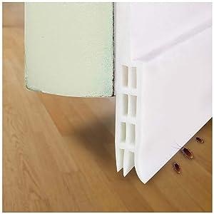 """fowong Door Sweep Weather Stripping Under Door Draft Stopper Direct Energy Saver for Door Bottom Seal, 2"""" Width x 39"""" Length (White)"""