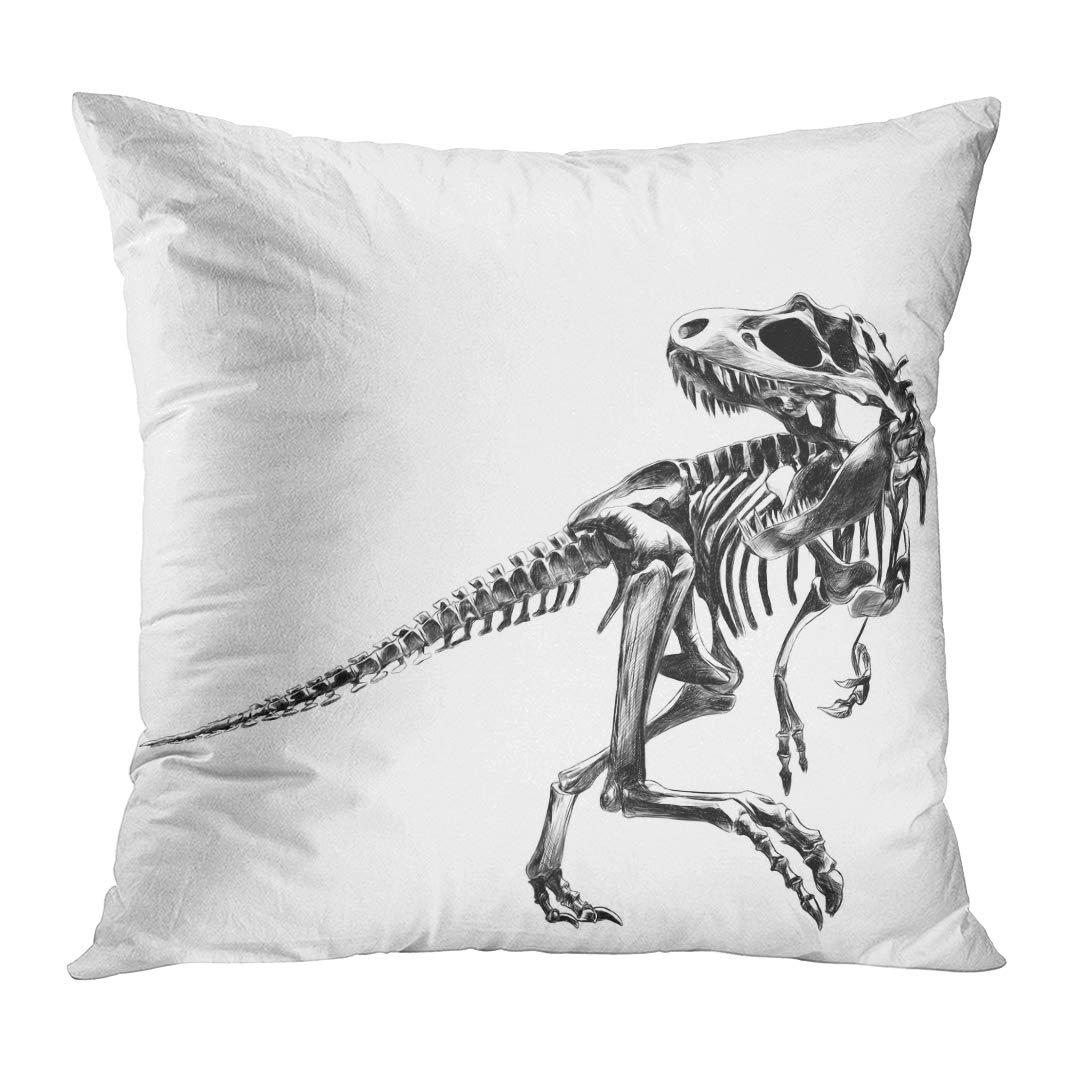 Amazon Com Tomkeys Throw Pillow Cover Skull Dinosaur Skeleton
