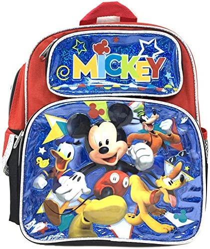 """Disney Mickey Mouse 12\"""" Toddler Small Backpack -16182"""