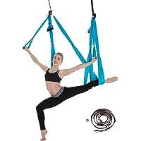 6 Yard Decompressie Yoga hangmat Vorm Lichaam Anti zwaartekracht Inversie-oefeningen - Yoga Vliegen Schommel Binnen…