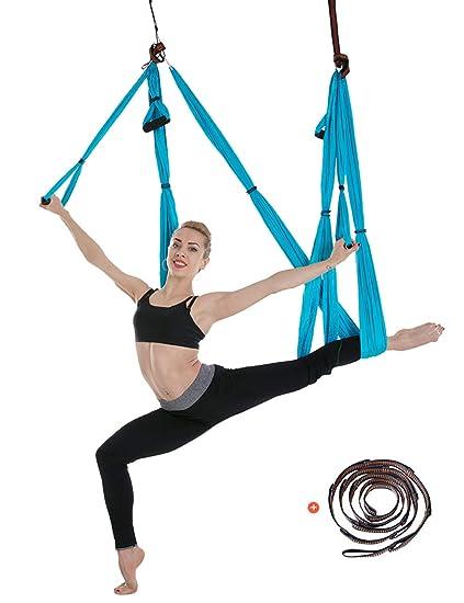 besbomig 6 Yardas Descompresión Hamaca Yoga Forma Cuerpo ...