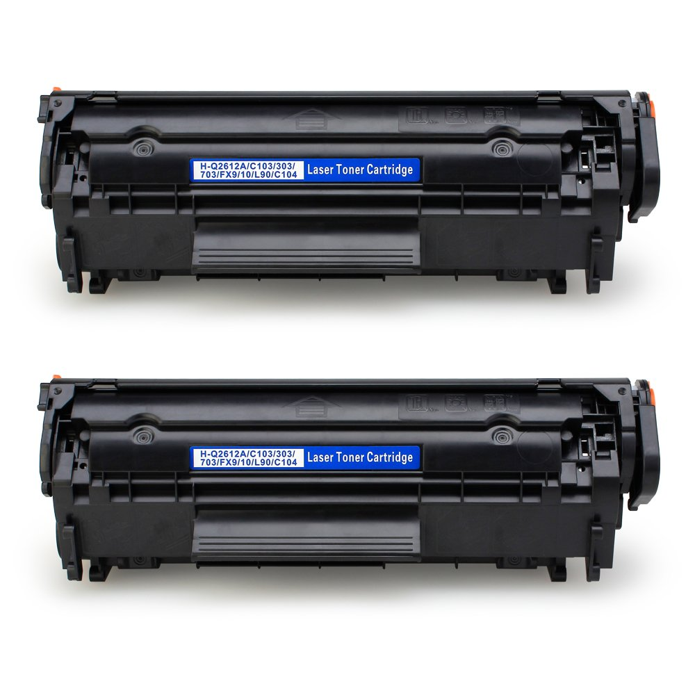 JARBO Compatible Toner Cartridges Replacement for HP 12A Q2612A High Yield, 2 Black, Use with Laserjet 1020 1012 1022 1010 1018 1022n 3015 3030 3050 3052 3055 M1319F Printer