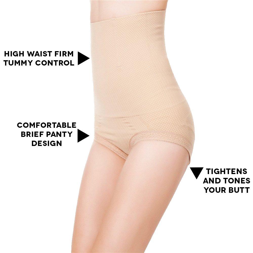 83a5cf2b1e Robert Matthew Radiance Womens High-Waist Shapewear Briefs Body Shaper  Panties