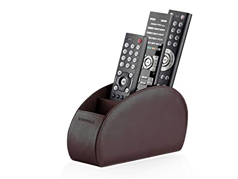 Amazoncom Sonorous Luxury Leather Remote Control Holder With 5