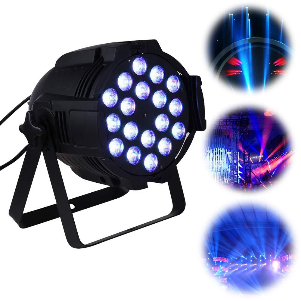 UKing Par Light, 18 * 15W 4 en 1 LEDs RGBW Iluminación automática de la etapa del control DMX 512 de la voz para el banquete de boda del club de la ...