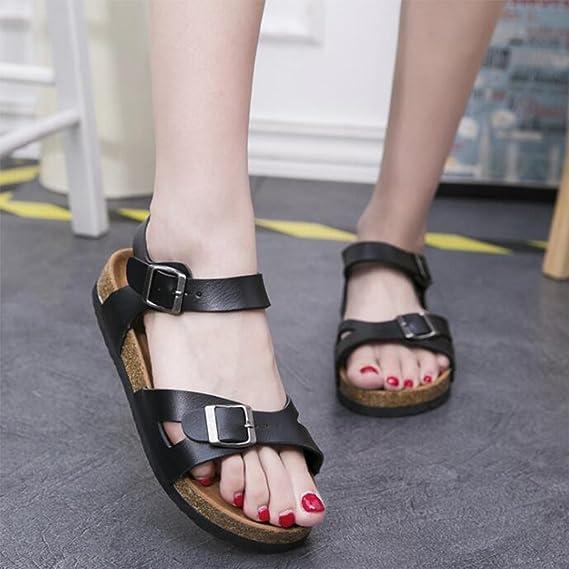 ZHONGST Damen Sommer Sandalen Paar Kork Sandalen Und