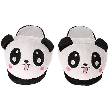 Anself Chaussons Cotons Panda en Peluche Mignon Doux pour femme Taille  Unique 87c2b32d373c