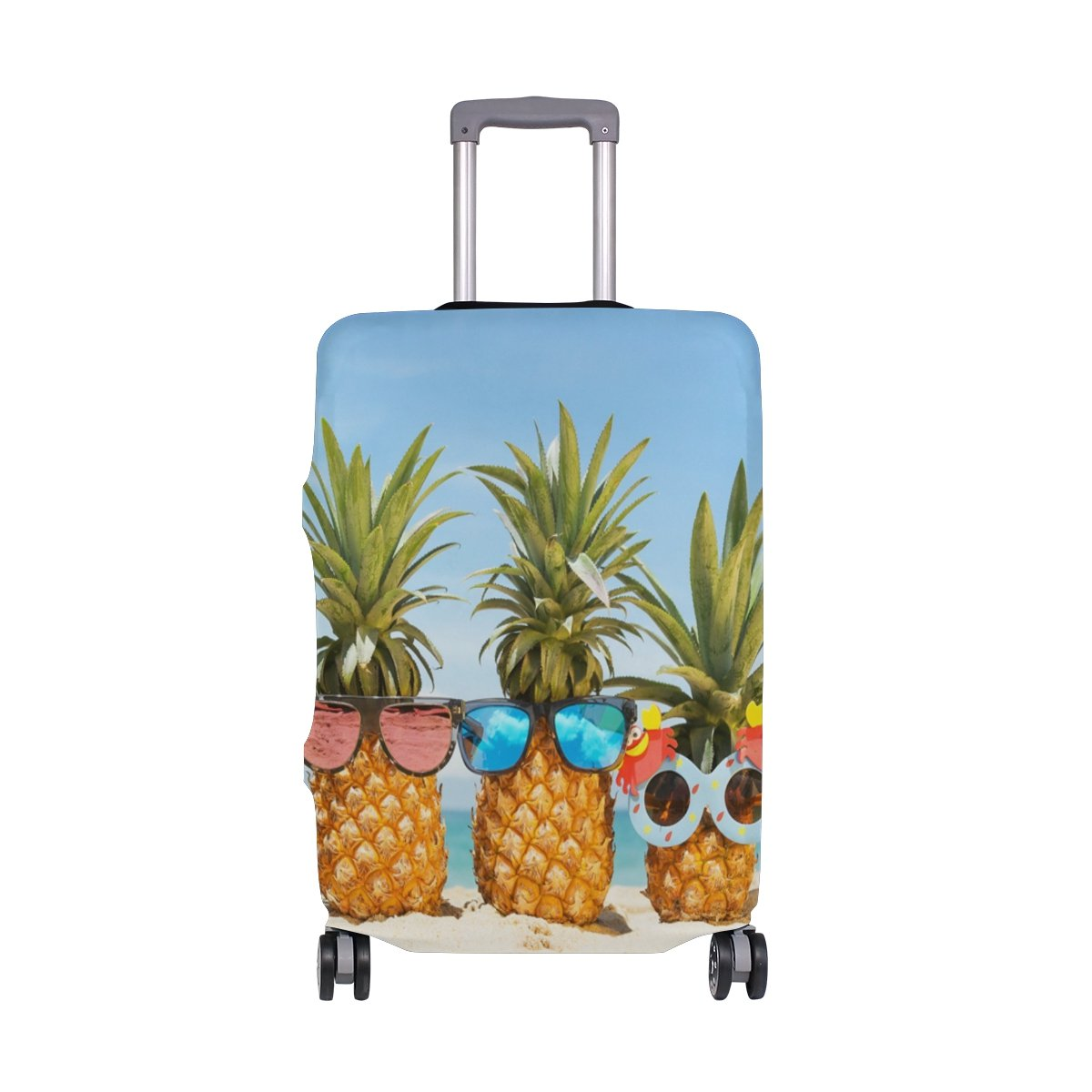 My Daily Sunglasses Pineapples Summer Beach Luggage Cover Fits 24-26 Inch Suitcase Spandex Travel Protector M