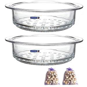 Luminarc Glass Steamer Basket for Luminarc 2-Quart and 3-Quart Pots, Pack of (2)