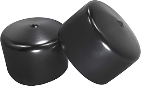 Amazon Com Prescott Plastics 2 1 2 Inch Round Black Vinyl End Cap Flexible Pipe Post Rubber Cover 4 Kitchen Dining