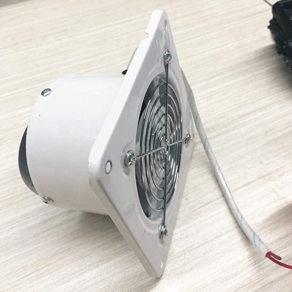 GPFSHOES Extintor 4/6 / 7/8/10/12 / 14inch Inline Duct Booster Ventilador de Ventana Ventilador para baño WC Cocina,Blanco,4inch