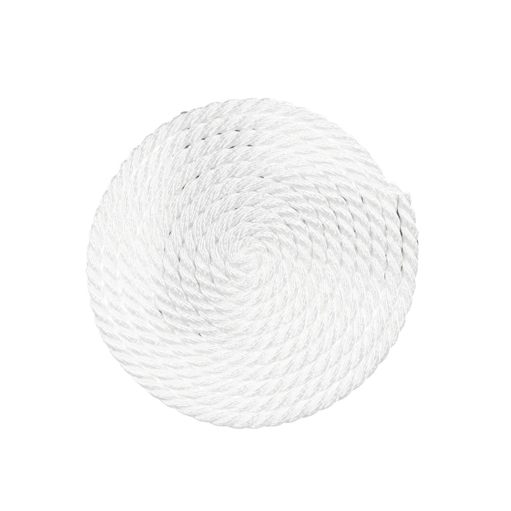 Comes in White High Strength Crafting Choose from Multiple Lengths and Widths and More PARACORD PLANET 3 Strand Twisted Polyester Rope Low Stretch Utility Multiple Uses