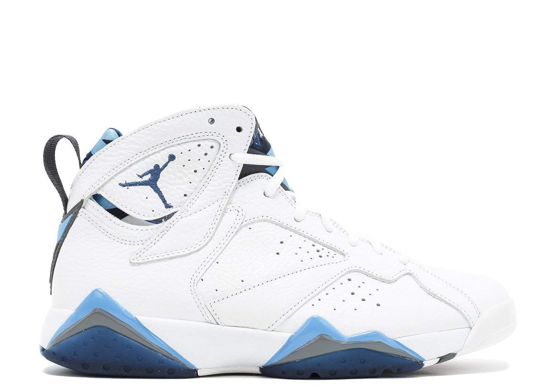 best service 8788e 8175e Nike Chaussures Homme AIR Jordan 7 Retro French Blue en Cuir Blanc 304775- 107  Amazon.fr  Chaussures et Sacs