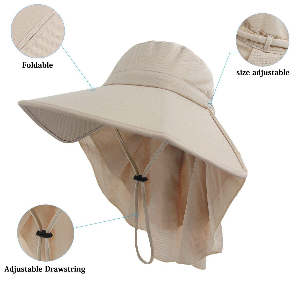 a8b0fc589dcbb LETHMIK Womens Foldable Sun Hat