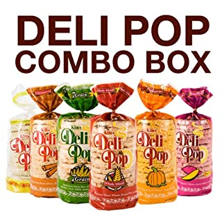 Kim's Deli Pop Combo 12-Pack: Freshly Popped Rice Cakes, Healthy Grain Snack, 0 Weight Watchers Point