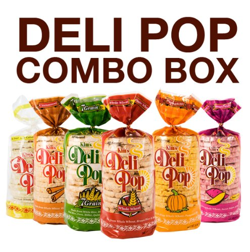 Peanut Butter Rice Cakes - Kim's Deli Pop Combo 12-Pack: Freshly