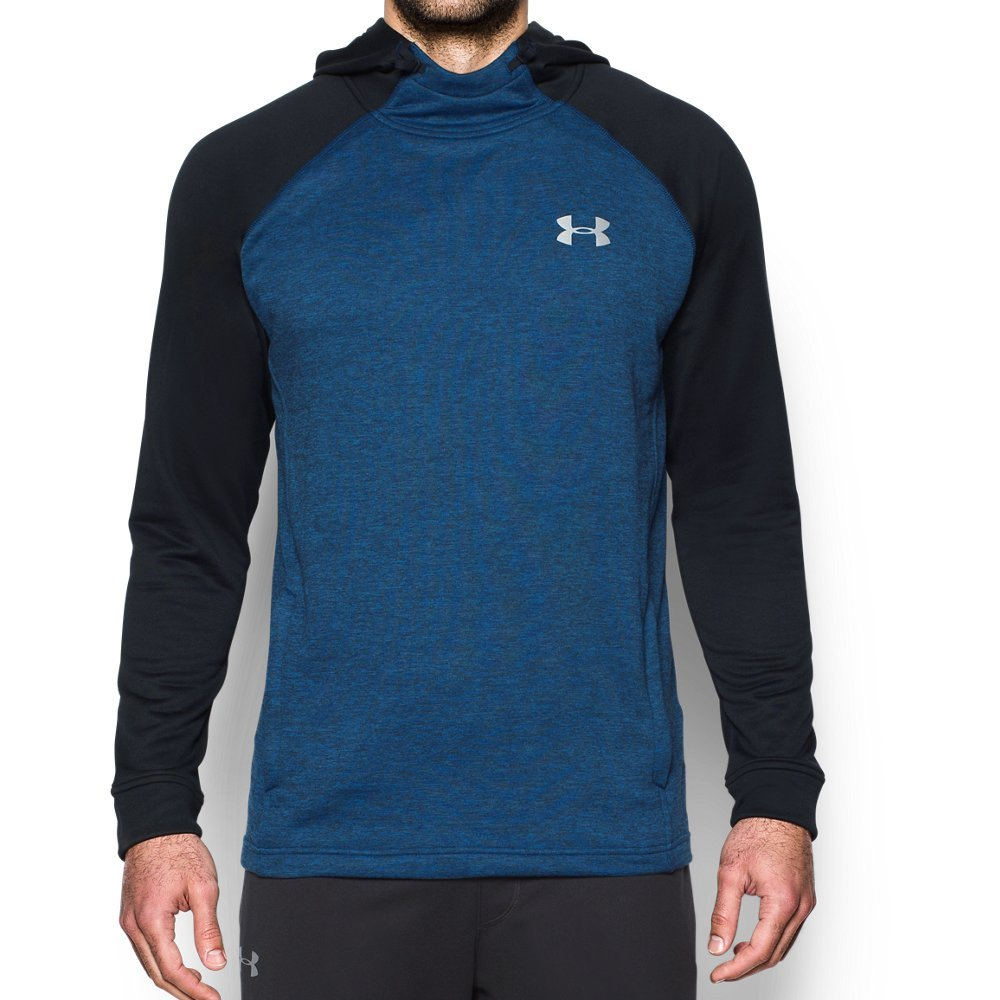 Under Armour Men's Tech Terry Hoodie, Blue Marker /Silver, Small