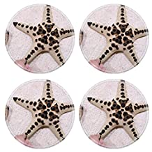 Liili Natural Rubber Round Coasters IMAGE ID: 7479604 touch star fish