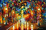 Farewell To Anger is a Limited Edition print from the Edition of 400. The artwork is a hand-embellished, signed and numbered Giclee on Unstretched Canvas by Leonid Afremov. This wonderful artwork is one of Afremov's most popular images of all time. T...