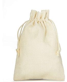 12 bolsas de tela con look de yute, tamaño 23x15 cm, bolsa ...