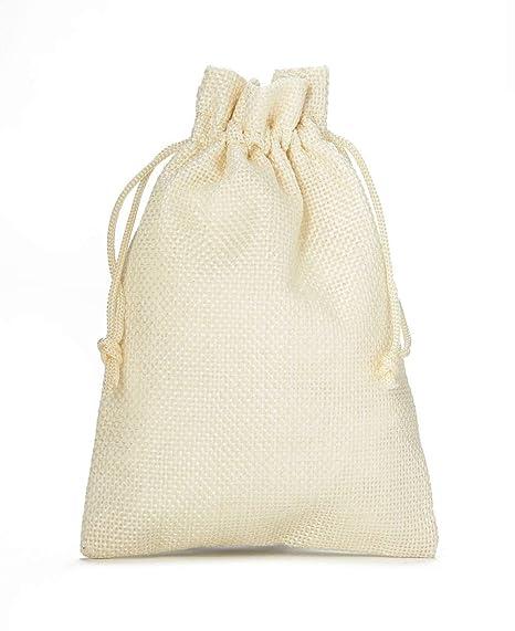 10 bolsas de tela con look de yute, tamaño 30x20 cm, bolsa ...
