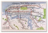 vintage nyc map - MAP of the New York City Interborough Rapid Transit Co. Subway circa 1924 - measures 24