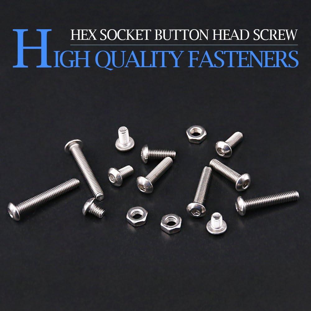 SKY BLUE allen screw M2 aluminum hex socket screws cap head smooth bolt 50pcs