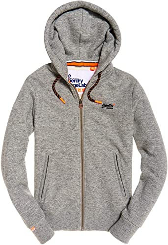 orange label sweat à capuche gris