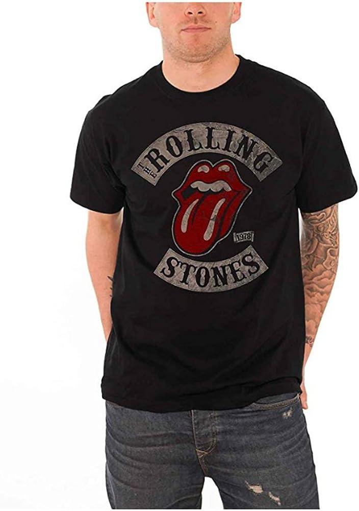 The Rolling Stones T-Shirt - Camiseta - para Hombre Negro Negro (M ...