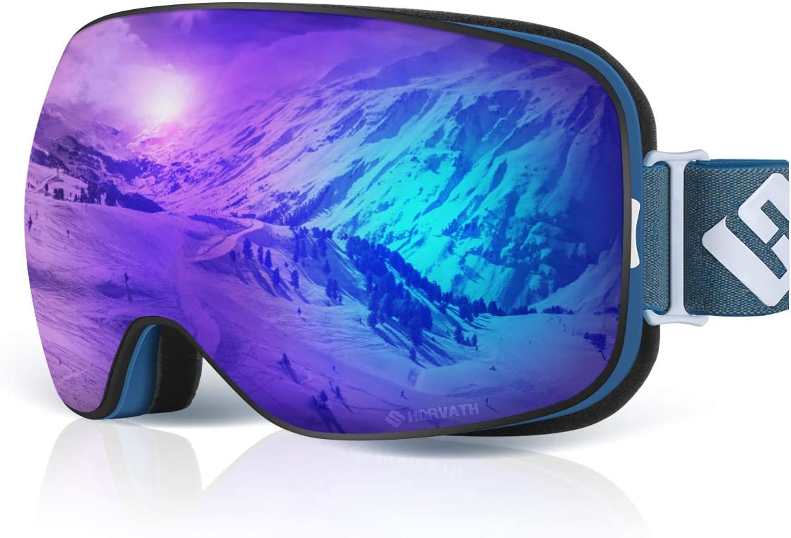 SH HORVATH Ski Goggles Replacement Detachable Dual Lens Spherical UV Protection Super Anti-Fog Snowmobile Skiing Skating