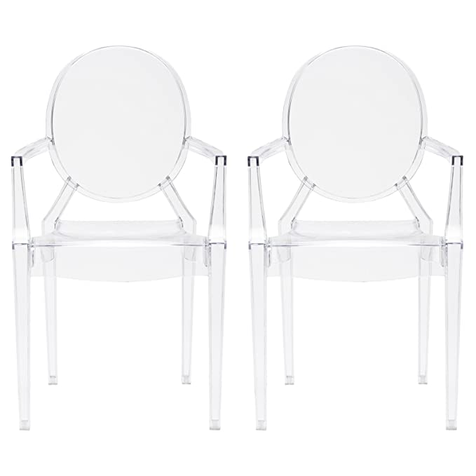 POLY & BARK Em-103-Clr-X2 Dining Chair (Set of 2) Set of Two