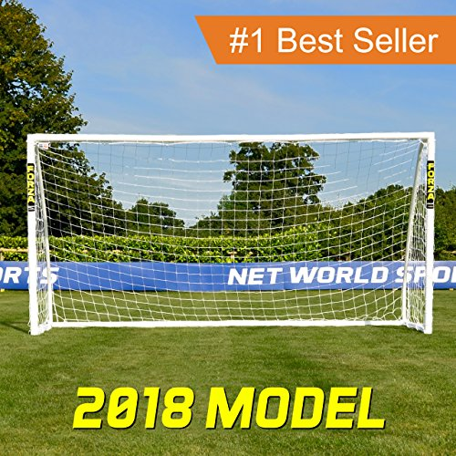 Net World Sports FORZA Soccer Goal - The Ultimate Home Soccer Goal! Leave These Soccer Goals Up In All Weather Conditions. FORZA Soccer Goals Can Take 1000s Of Shots! (Soccer Goal Post Size)