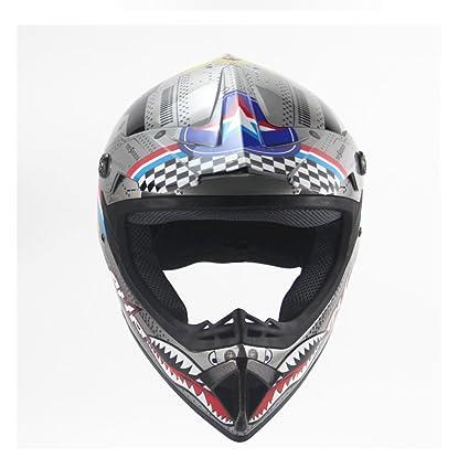 GXQ Casco Motocross Mountain Bike Safety Speed Drop Niño pequeño Luz Four Seasons Off