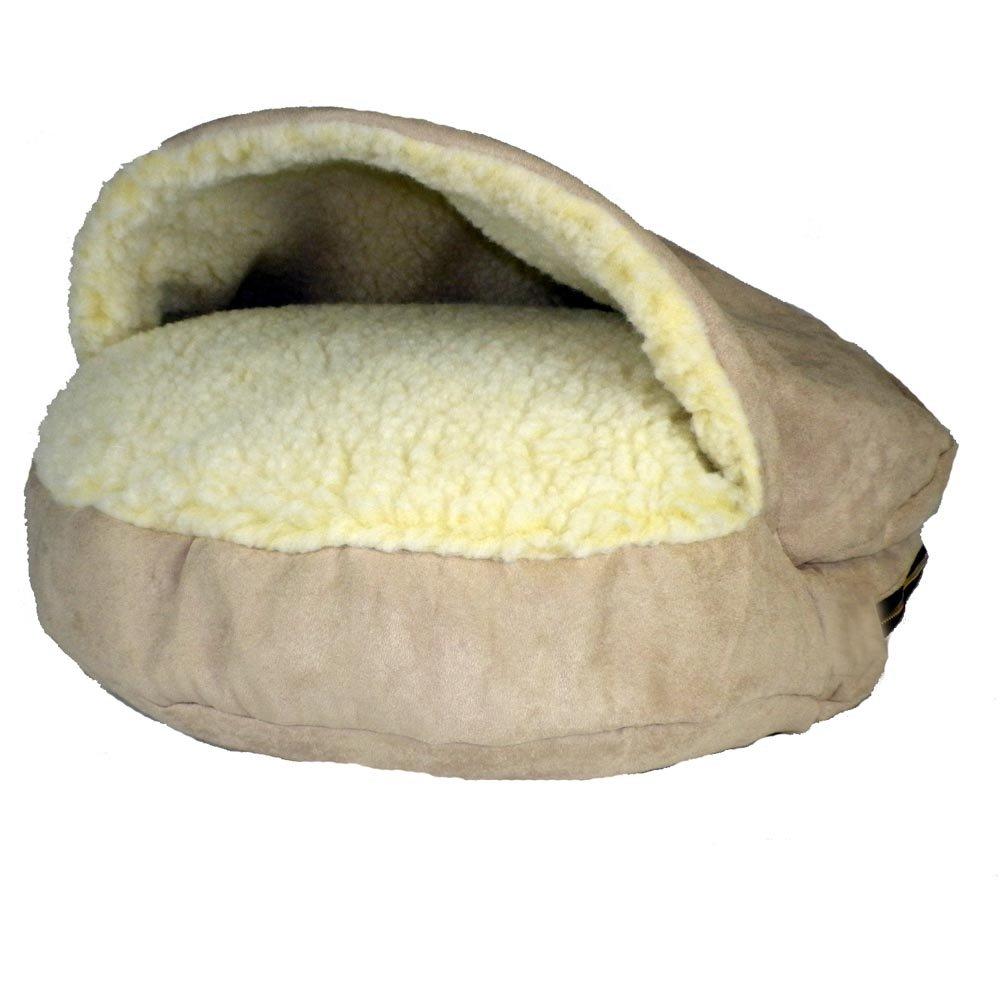 Large Snoozer 87675 Large Luxury Orthopedic Cozy Cave Pet Bed, Buckskin