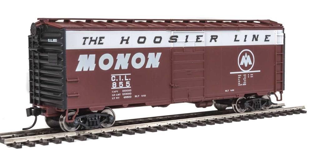 40 ' ps-1 Boxcar – を実行する準備 – - monon 855ブラウン、ホワイト、ブラックEnds – The Hoosierラインスローガン) B077LG4MZW