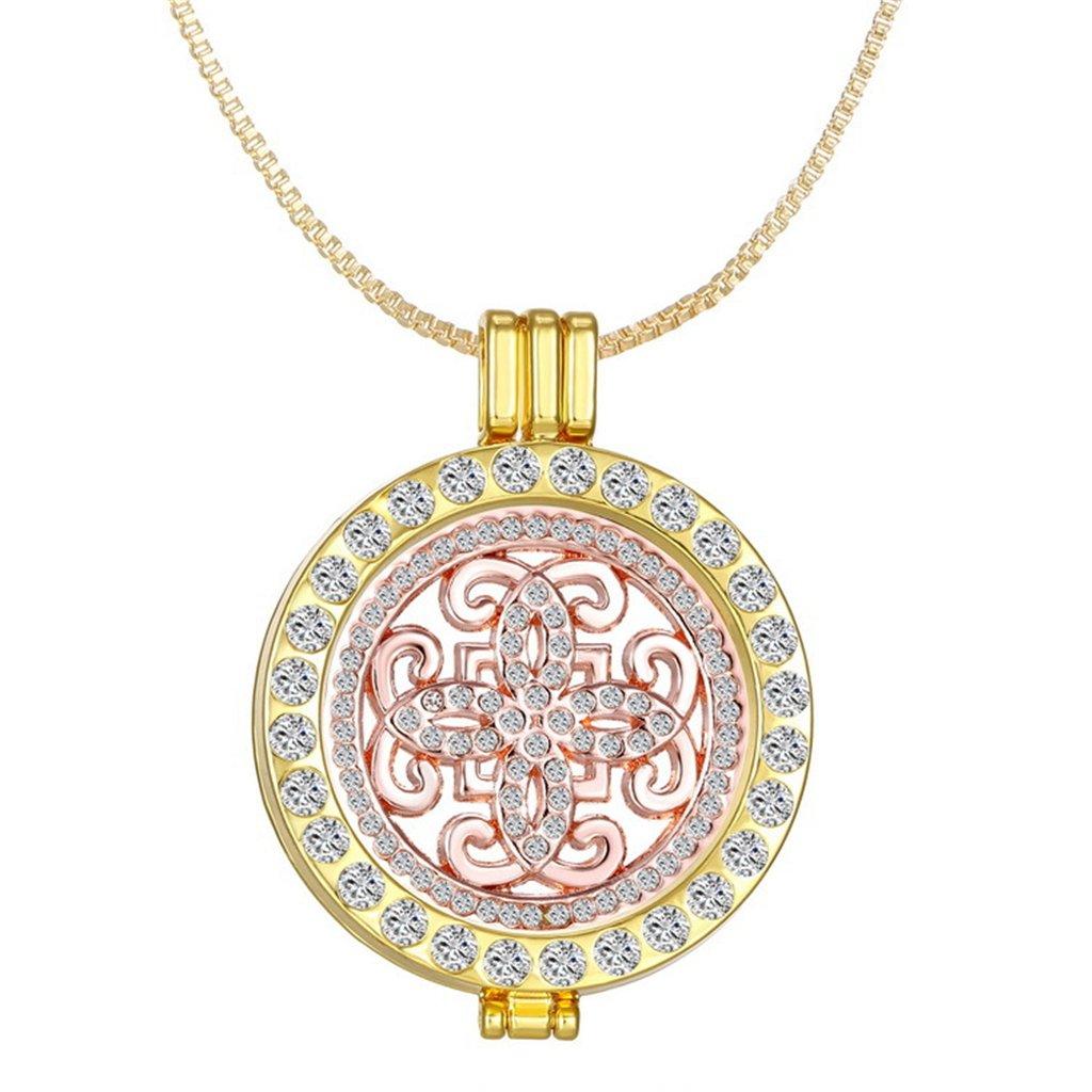 fdbf607a698e4 Dream Alice New Arrival Luxury Commemorate Coin Locket Pendant Necklace -  Vintage Cross