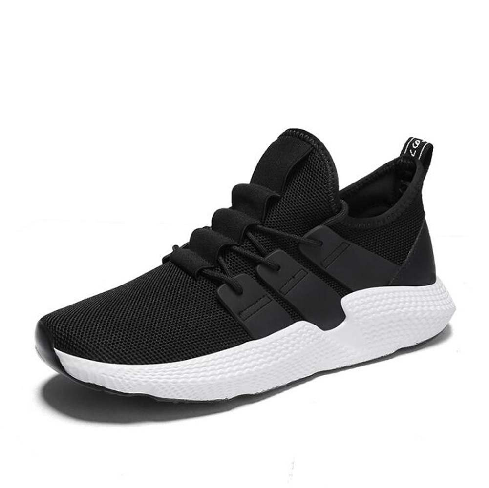MYI Zapatillas de deporte marea coreana Harajuku Zapatos atléticos Casual Harajuku coreana Zapatillas de deporte Primavera Negro Rojo Talla 39-44 (Color : Negro, tamaño : 40) ca5113