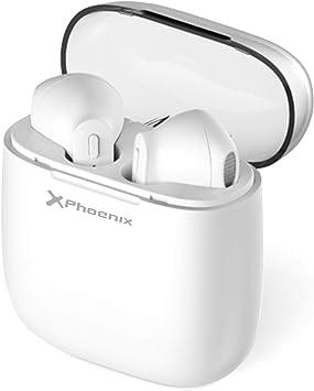 Phoenix Technologies, Auriculares Inalámbricos Bluetooth Mini Twins Estéreo In-Ear con Estuche de Carga Portátil y Micrófono Integrado para iPhone y Android Blancos: Phoenix-Technologies: Amazon.es: Electrónica