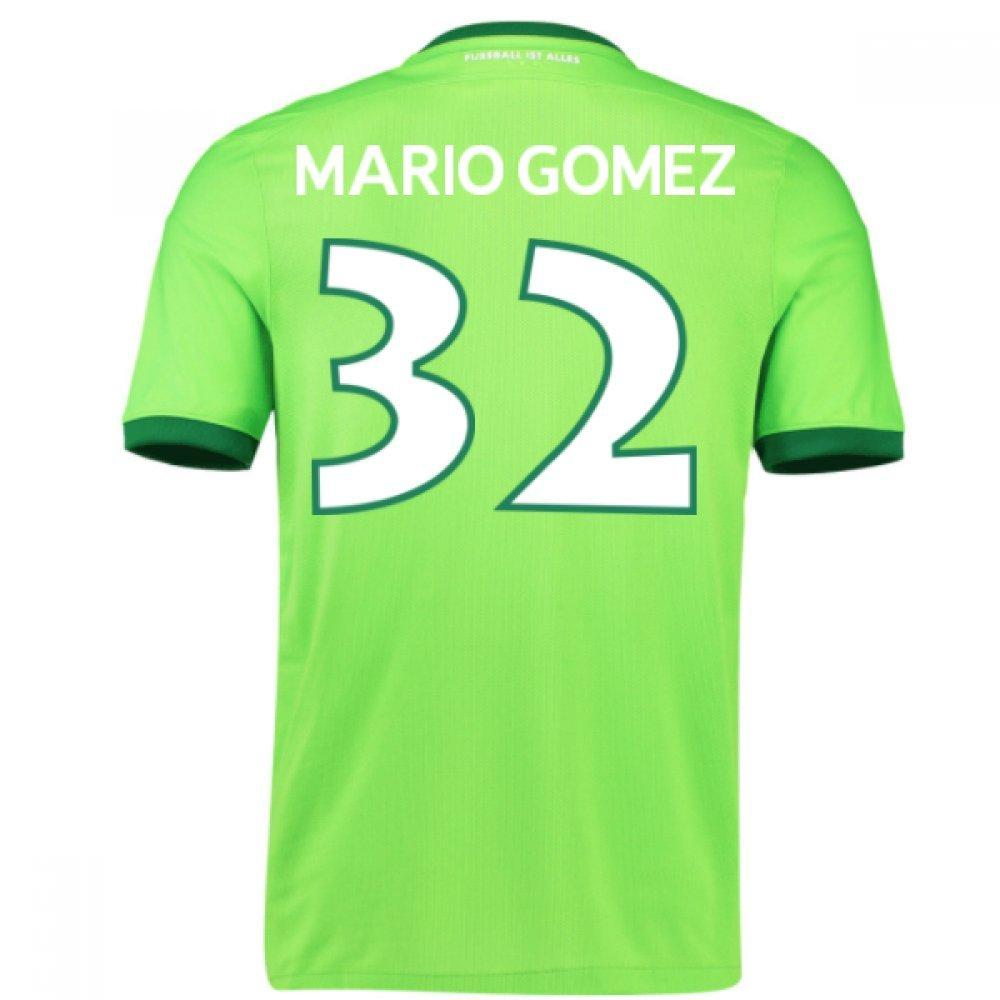 2016-17 Wolfsburg Home Shirt (Mario Gomez 32) Kids B0786DW7GJGreen LB 30-32\