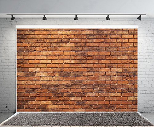 (Yeele 10x8ft Retro Brick Backdrop Vinyl Cloth Vintage Brown Brick Wall Texture Photography Background Party Booth Banner Newborn Baby Adult Portrait Wallpaper Photo Video Shooting Studio Props)