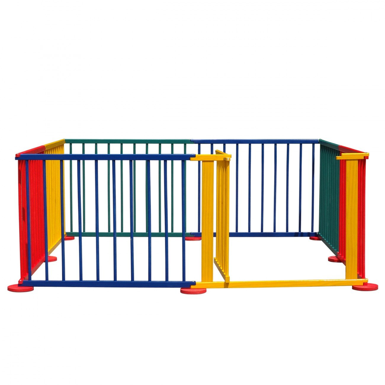 Amazoncom Costzon Baby Playpen 8 Panel Colors Wooden Frame