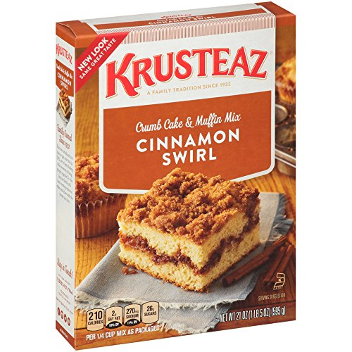 Krusteaz Cinnamon Swirl Crumb Cake and Muffin Mix, 21-Ounce Boxes (Pack of 4) (Crumb Cake Muffins)