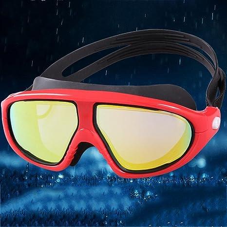 ZHANG Gli occhiali di protezione di grande scatola ad alta definizione impermeabili anti-nebbia comodi maschere maschere uomini e donne nuoto occhiali, C