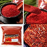 2017 Year Korean Sun Dried An-dong 안동 태양초 Cheong Yang 100% 청양고추 VERY HOT SPICY Red Pepper Powder Chili Powder 고추가루 17.63 oz(500g) Coarse Flakes