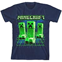 Minecraft Glowing Creepers Big Boys Youth T-Shirt Licensed